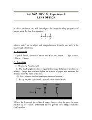 Lens optics - Ultracold Atomic Physics