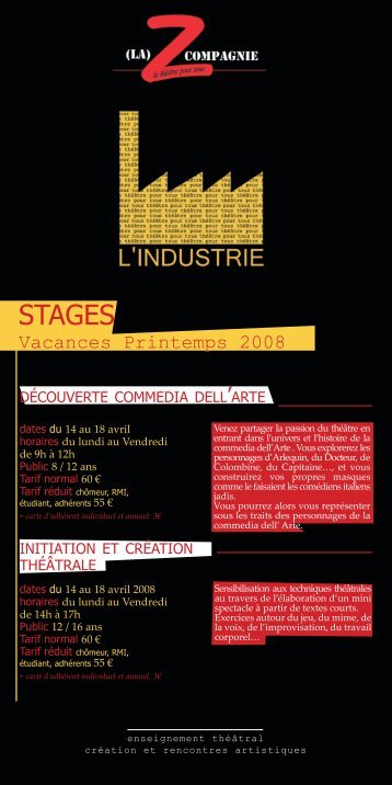 STAGES - Z Compagnie