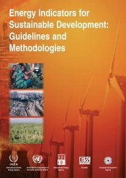 Energy Indicators for Sustainable Development ... - IAEA Publications
