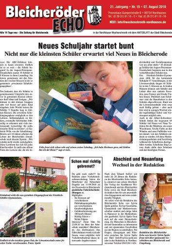 NEU! - Nordhäuser Wochenchronik