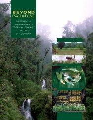 BEYOND PARADISE - Biology Major