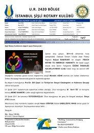 Rotary Bülten 1417 - Şişli Rotary Kulübü