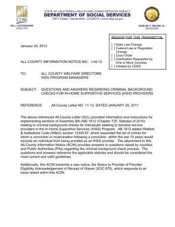 January 24, 2012 ALL-COUNTY INFORMATION ... - IHSS Coalition