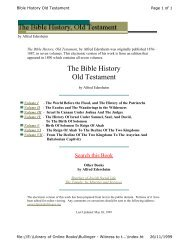 Old Testament Bible History