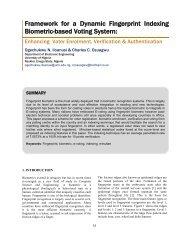Framework for a Dynamic Fingerprint Indexing Biometric-based ...