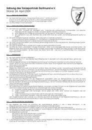 Satzung Stand 2009-04-24 - Tanzsportclub Dortmund