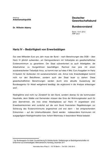 Hartz IV – Bedürftigkeit von Erwerbstätigen - Carsten Zinn