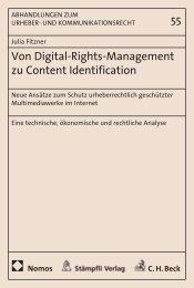 Von Digital-Rights-Management zu Content Identification - Nomos