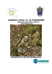 diagnostico de sostenibilidad de etxebarri - Ayuntamiento de Etxebarri