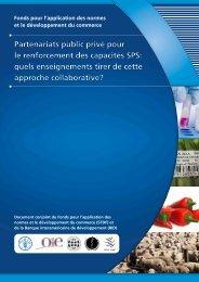 Partenariats public privé pour le renforcement des capacités SPS ...