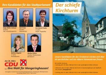 Schiefe Kirchturm Kommunalwahl 2006.p65 - CDU Bad Arolsen