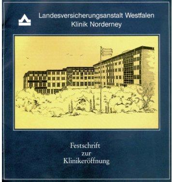 Festschrift zur Klinikeröffnung - Chronik der Insel Norderney