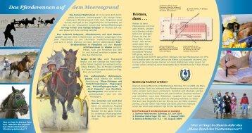 Das Pferderennen auf dem Meeresgrund - Nordseeheilbad Duhnen