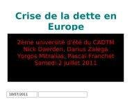 Crise de la dette en Europe - cadtm