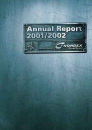 Nordex Annual Report 2001/2002