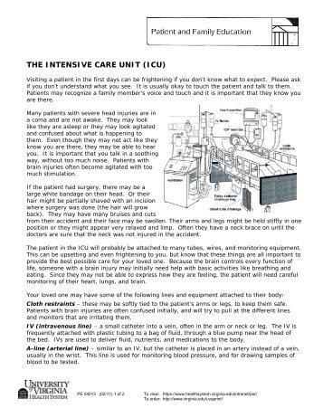 THE INTENSIVE CARE UNIT (ICU)