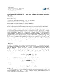 Generalized Lie Algebroids and Connections over Pair of ...