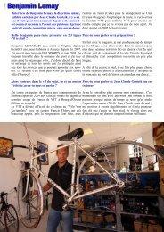 Interview de Benjamin Lemay, la discrétion même ... - Nico la Clusaz