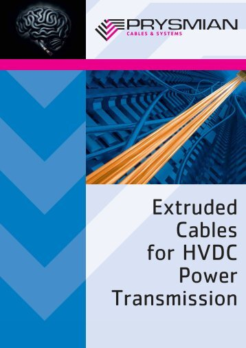 Extruded Cables for HVDC Power Transmission - Prysmian Group