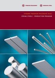 Katalog pružinových ocelí (pdf) - Třinecké železárny