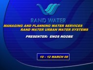 Ngobe and Varkevisser, Case Study Rand Water Urban ... - iwrm