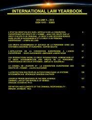 INTERNATIONAL LAW YEARBOOK - Free World Publishing Inc.