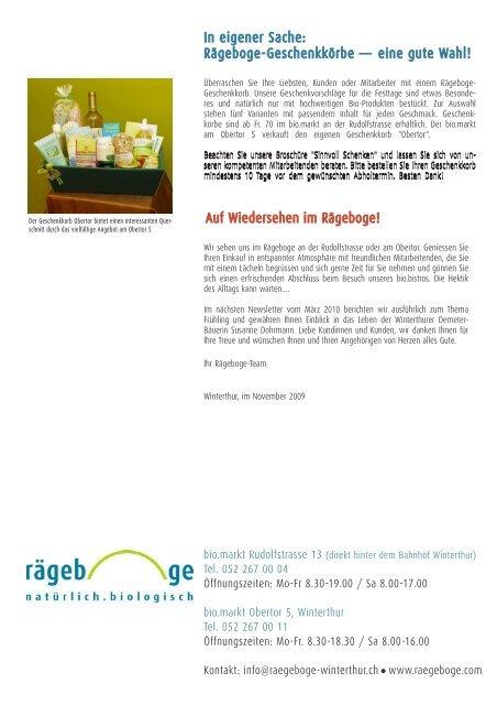 November 2009 - Rägeboge Winterthur GmbH