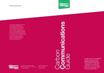 Communications - The Carbon Neutral Company