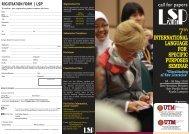 international language for specific purposes seminar - SPACE UTM ...
