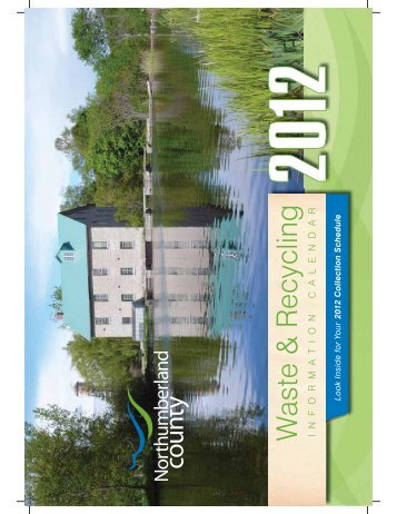 33336 CoN-2012 Calendar.indd - Northumberland County