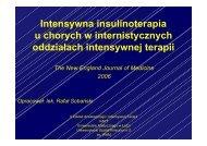 Intensywna insulinoterapia u chorych leczonych w ogólnych OIT