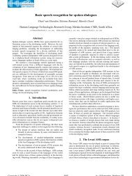 Basic Speech Recognition for Spoken Dialogues - CSIR Research ...