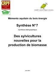 Synthèse n°7 - Le Centre Régional de Propriété Forestière (CRPF)