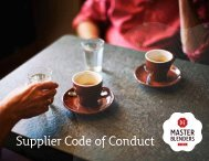 Supplier Code of Conduct - DE Master Blenders 1753