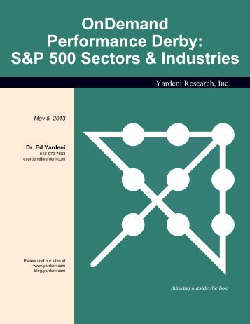 OnDemand Performance Derby: S&P 500 Sectors & Industries