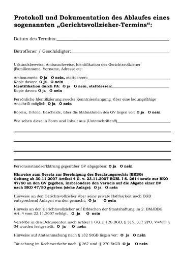 Protokoll und Dokumentation des Ablaufes eines ... - Novertis