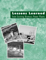 Lessons Learned from Existing Biomass Power Plants - NREL