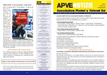 ApveNotizie Novembre 2006 - associazione pionieri e veterani eni