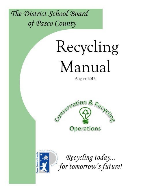 Recycling Manual - Pasco County Schools