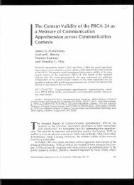 The Content Validity of the PRCA-24 as - James C. McCroskey