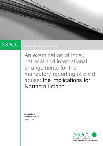 An examination of local, national and international ... - nspcc