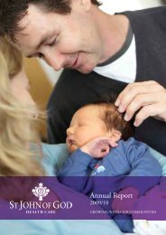 Annual Report 2009/10 - St John of God Health Care
