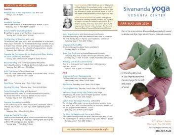 APR-MAY-JUN 2009 - Sivananda Yoga
