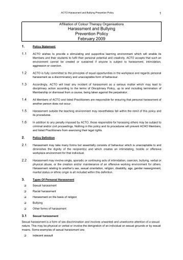 2 bullyin for Bullying and harassment policy template