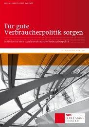 Für gute Verbraucherpolitik sorgen - SPD Bundestagsfraktion