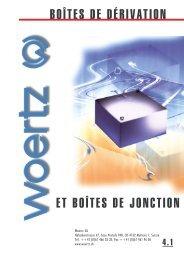 boîtes de dérivation et boîtes de jonction - Woertz Carolina Inc.
