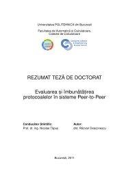 REZUMAT TEZ˘A DE DOCTORAT Evaluarea s, i îmbun ˘at ˘at,irea ...