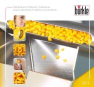 12 Produits innovants pour le laboratoire, l'industrie ... - Bürkle GmbH
