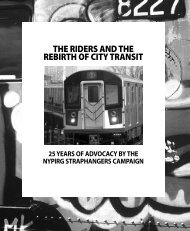 Exhibit Brochure - Straphangers Campaign