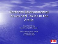 Toxics in the Arctic (Jean Tremblay, 0.98 MB) - Institute of Coastal ...